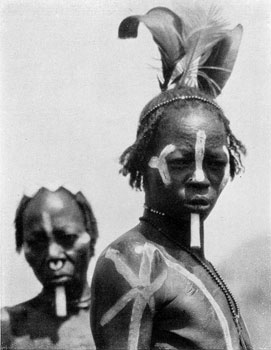 Nuba women decorated